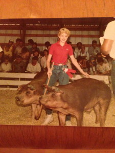 My pigs Oscar and Mayer 1985