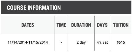 ICC NYC Schedule
